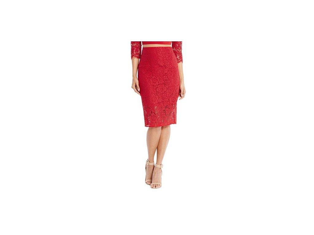 dd818ff0093 Sukně Guess by Marciano Aisha Lace Skirt červená - G-Butik.cz