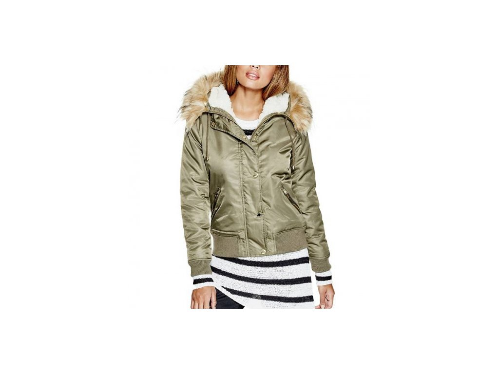 Bunda G by Guess Audrea Bomber Jacket zelená