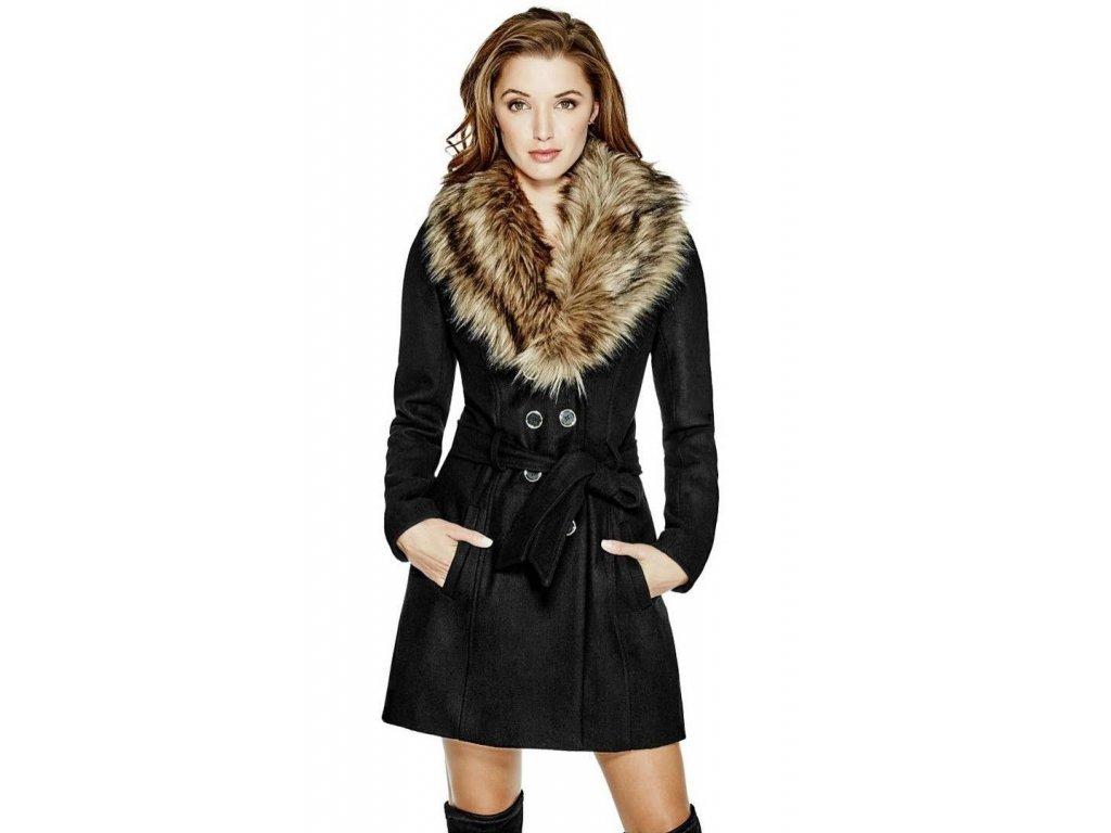Kabat Guess Alina Double Breasted Coat cerny 1