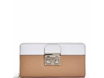 Peněženka Guess Martine Color-Blocked Organizer Wallet hnědá