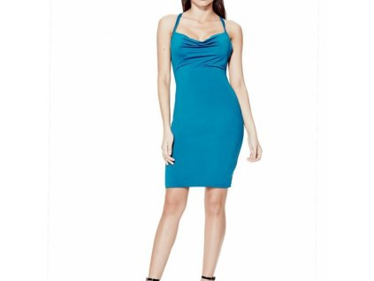 Šaty Guess Lesley Sleeveless Tie-Back Dress modré