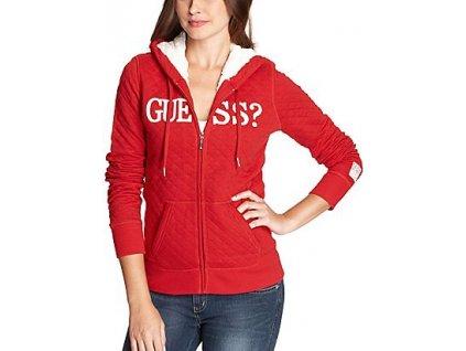 Sportovní bundička Guess Kristen Hoodie červená