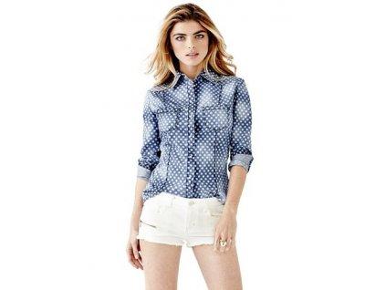Riflová košile Guess Lalima Denim Shirt
