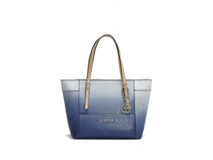 Kabelka Guess Delaney Ombre Small Classic Tote modrá