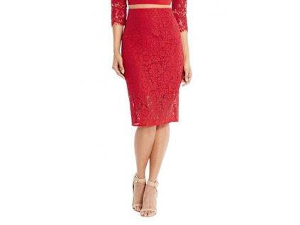 Sukně Guess by Marciano Aisha Lace Skirt červená
