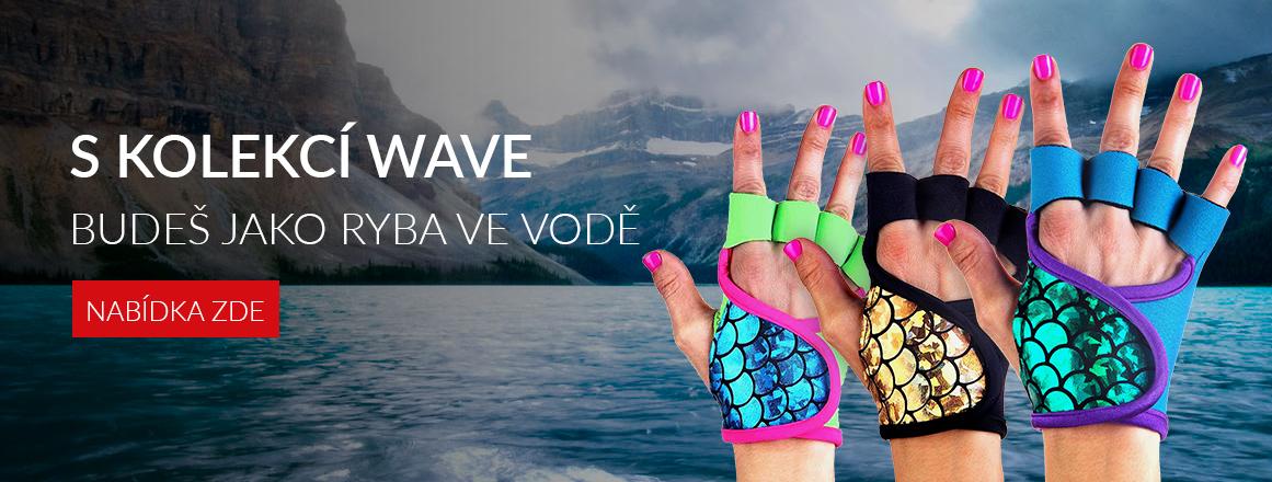 S Kolekcí Wave se budete cítit jako ryba ve vodě, luxusní neoprenové fitness rukavice