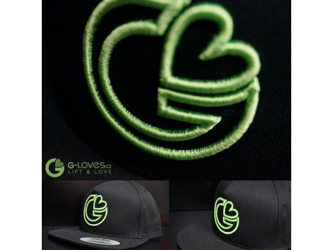Snapback Trucker G-loves - Černo-zelená