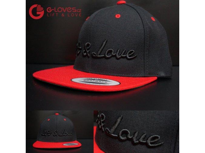 Snapback Classic Lift & Love - Černo-červená
