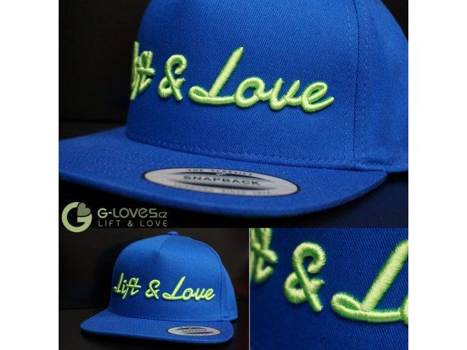 Snapback Classic Lift & Love - Modro - zelená