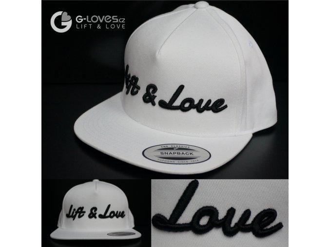 Snapback Classic Lift & Love - Bílo - černá