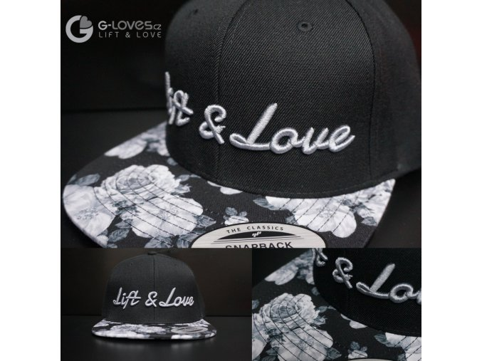 Snapback Exclusive Lift & Love - BlackRose - šedá