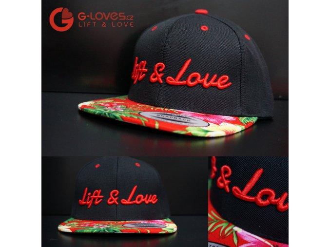 Snapback Exclusive Lift & Love - Aloha - Červená