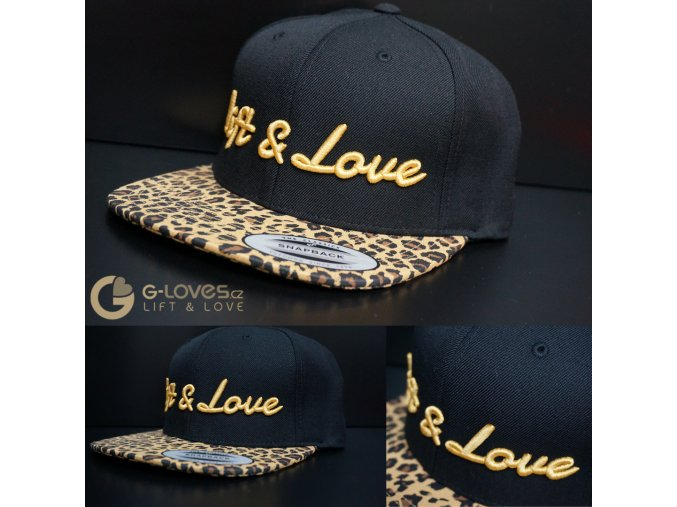 Snapback Exclusive Lift & Love - Leopard - zlatá
