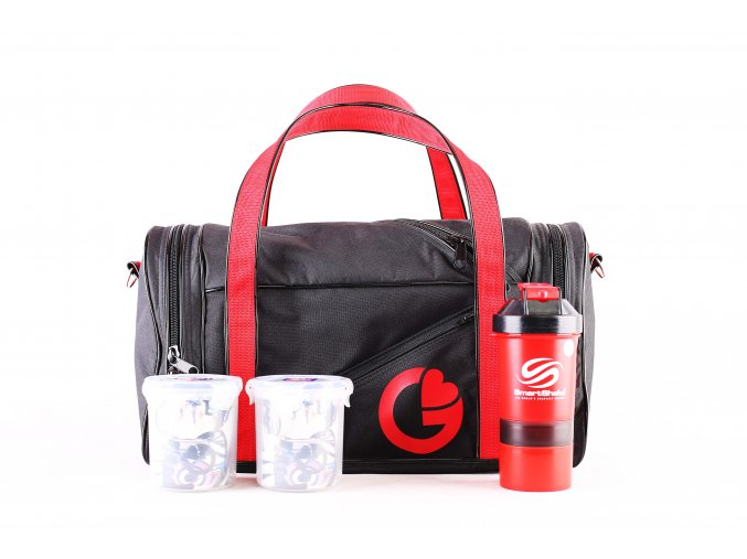 G BAG BLACK RED set