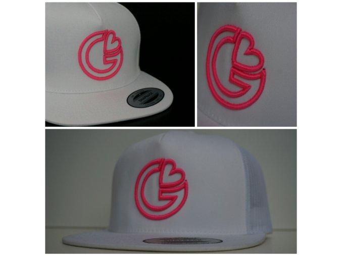 Snapback Trucker G-loves - Bílo-růžová