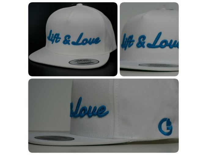 Snapback Classic Lift & Love - Bílo - modrá
