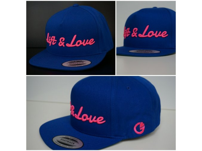 Snapback Classic Lift & Love - Modro - růžová