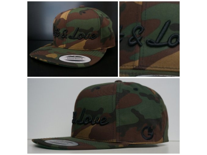 Snapback Exclusive Lift & Love - GreenCamo - černá