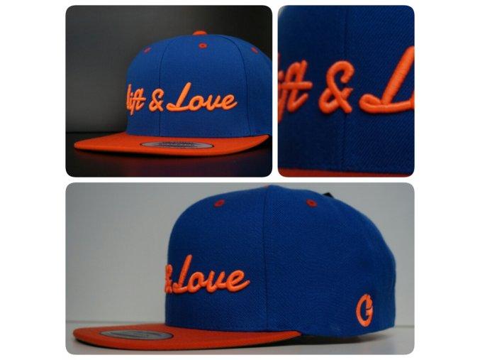 Snapback Classic Lift & Love - Modro - oranžová