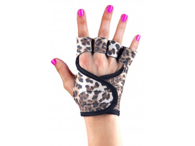Dámské fitness rukavice - Baby Leopard