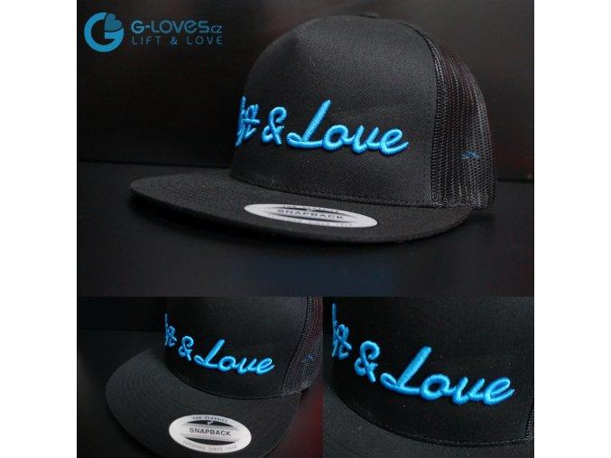 Snapback Trucker Lift & Love - Černo-modrá