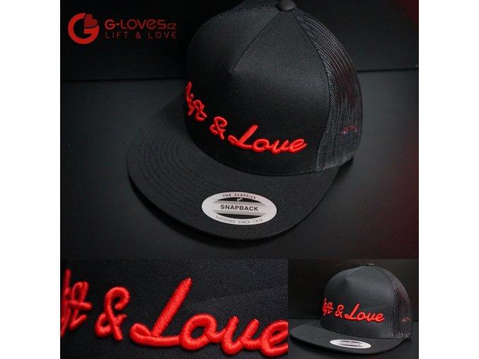 Snapback Trucker Lift & Love - Černo-červená