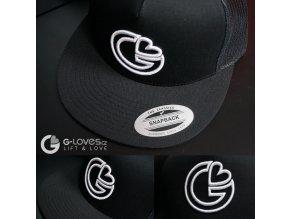 Snapback Trucker G-loves - Černo-bílá