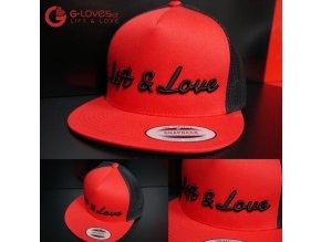 Snapback Trucker Lift & Love - Červeno-černá