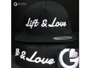 Snapback Classic Lift & Love - Černo-bílá