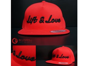 Snapback Classic Lift & Love - Červeno - černá