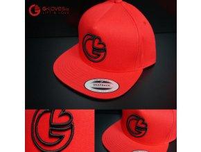 Snapback Classic G-loves - Červeno - černá