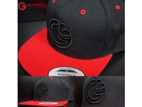 Snapback Classic G-loves - Černo-červená