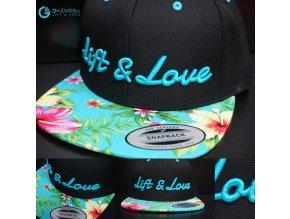 Snapback Exclusive Lift & Love - Aqua - Modrá