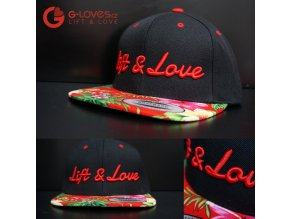 Snapback Exclusive Lift & Love - Aloha - Červená