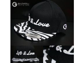 Snapback Exclusive Lift & Love - Zebra- Bílá