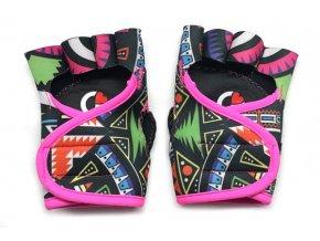 Dámské fitness rukavice - Aztec s růžovým lemováním - limitovaná edice