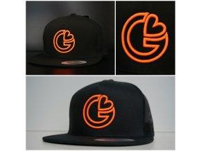 Snapback Trucker G-loves - Černo-oranžová