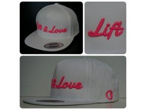 Snapback Classic Lift & Love - Bílo - růžová