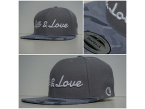 Snapback Exclusive Lift & Love - GreyCamo - bílá