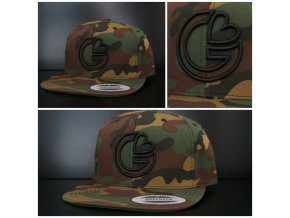 Snapback Exclusive G-loves - GreenCamo - černá