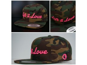 Snapback Exclusive Lift & Love - GreenCamo - růžová