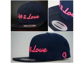 Snapback Exclusive Lift & Love - BlueCamo - růžová