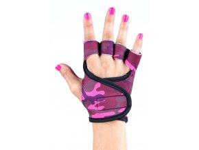 Dámské fitness rukavice - Pink Camouflage