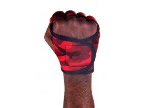 Pánské fitness rukavice - Red Camo Camouflage