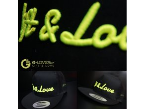 Snapback Trucker Lift & Love - Černo-žlutá