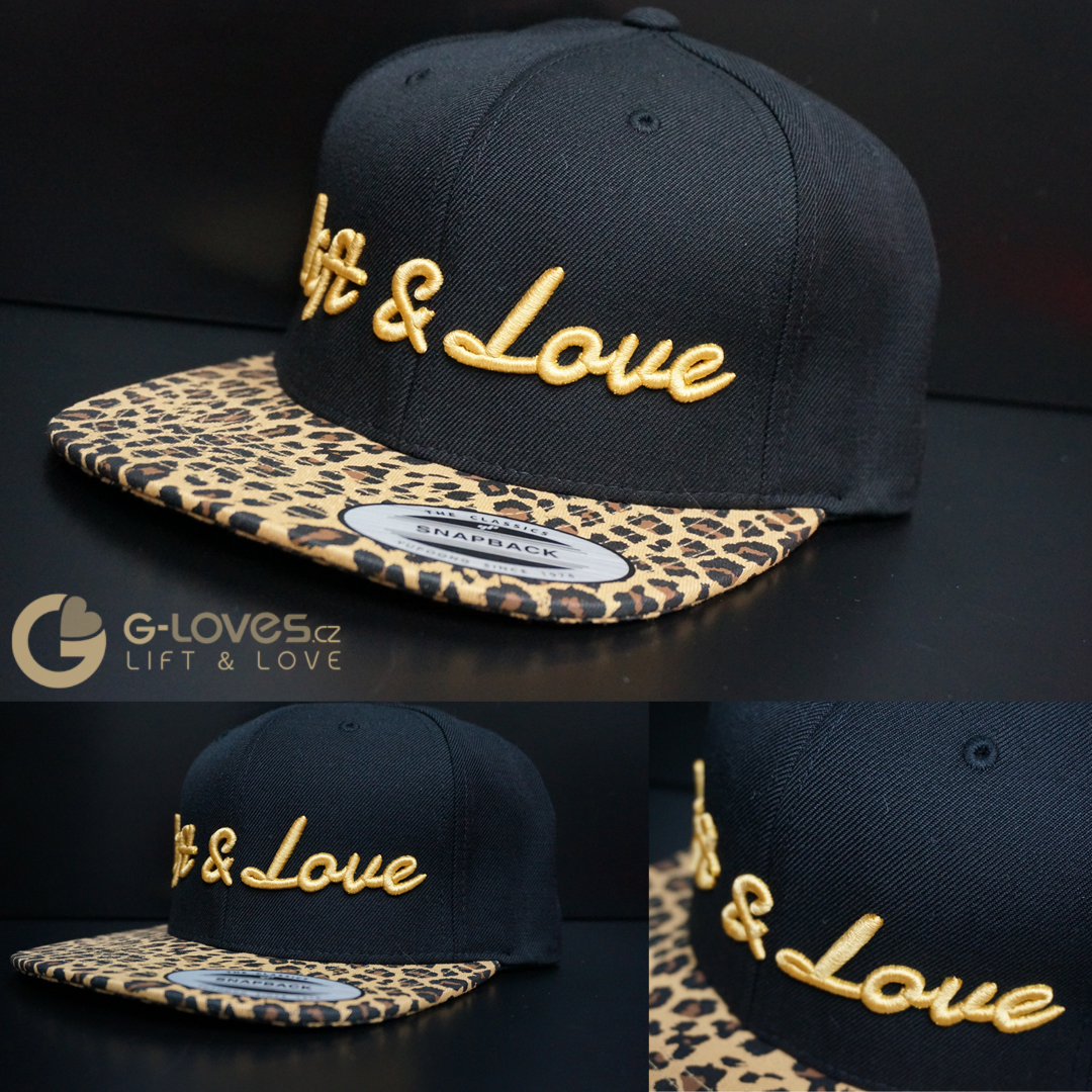Snapback Exclusive Lift & Love - Leopard - zlatá