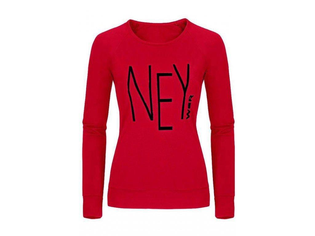 Dámské funkční termo tričko s dlouhým rukávem červené ZT500 (Barva Červená, Velikost XL)