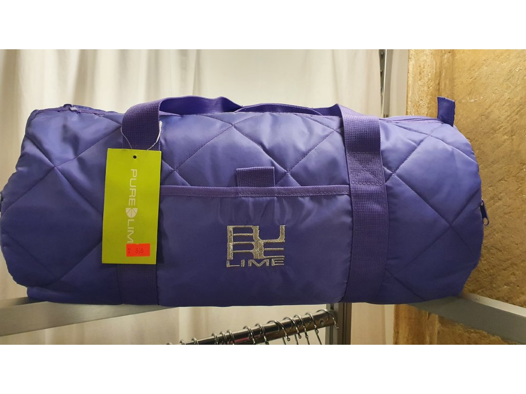 Sportovní taška Quilted Duffel Sports Bag, Pure Lime