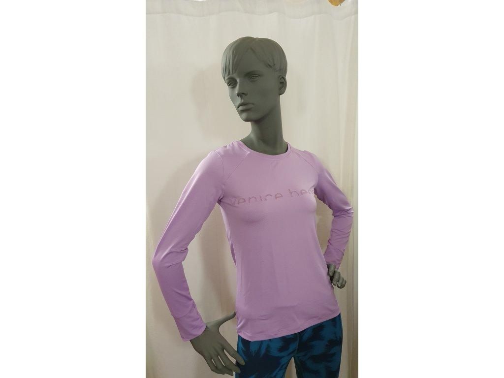 Funkční fialkové triko s dlouhým rukávem Pittis, Venice Beach
