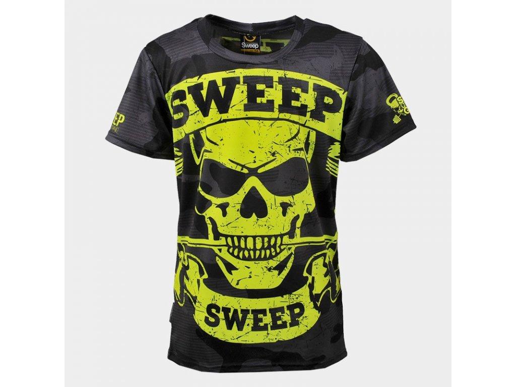skts007 black grey camo yellow skull